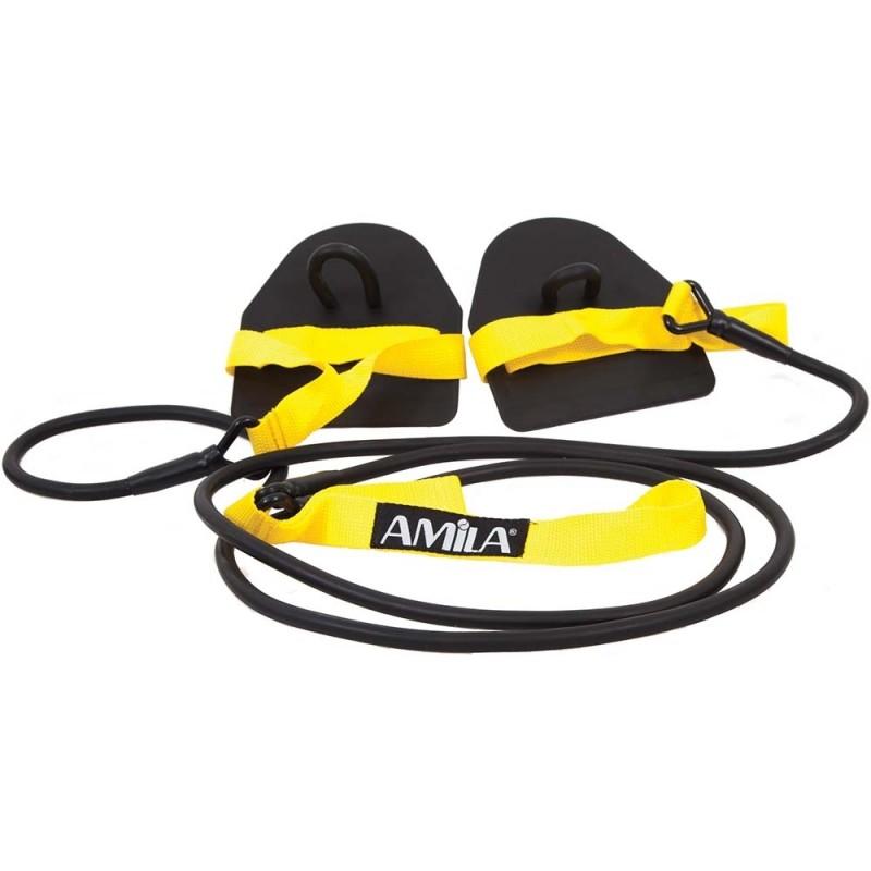 ΛΑΣΤΙΧΟ ΠΡΟΠΟΝΗΣΗΣ ΓΥΜΝΑΣΤΙΚΗΣ εξάσκησης κολύμβησης AMILA 47273