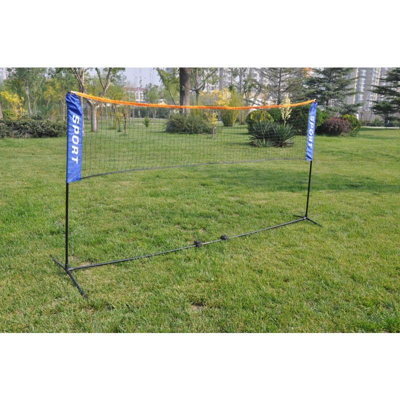 Σετ ορθοστατες & δίχτυ Badminton Amila 42768