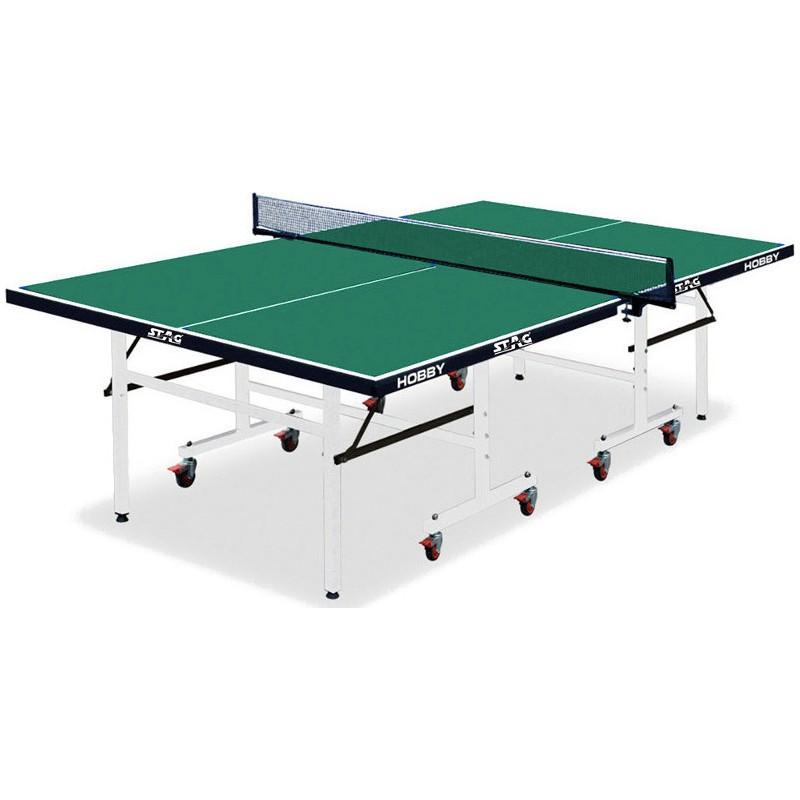 Τραπέζι ΠΙΝΓΚ ΠΟΝΓΚ ΕΣΩΤΕΡΙΚΟΥ ΧΩΡΟΥ ping pong INDOOR TABLE HOBBY GREEN 42851 AMILA