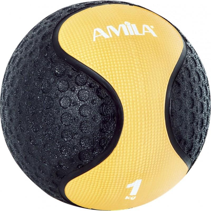Medicine Ball ΜΠΑΛΑ ΑΣΚΗΣΕΩΝ ΓΥΜΝΑΣΤΙΚΗΣ 1kg 90701 AMILA