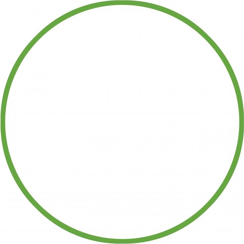 ΣΤΕΦΑΝΙ ΡΥΘΜΙΚΗΣ ΓΥΜΝΑΣΤΙΚΗΣ Χούλα Χουπ HULA HOOP 60cm - Φ18mm  120gr Πράσινο 48013 AMILA