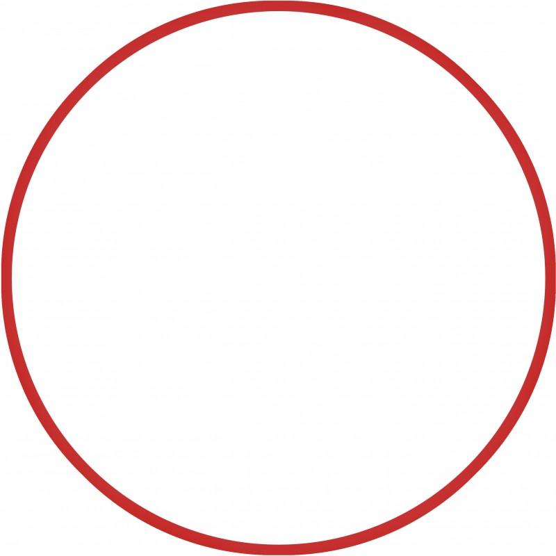 Χούλα-Χουπ 60cm - Φ18mm - 155gr, Κόκκινο - 48168 HULA HOOP