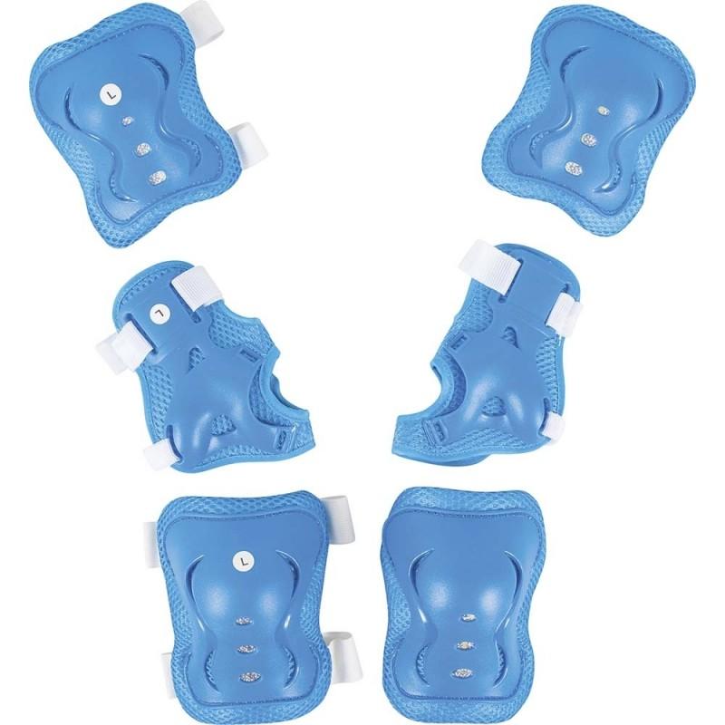 Σετ Προστατευτικών Για Πατίνια Rollers skateboard ΤΡΟΧΟΣΑΝΙΔΑ μπλε Amila Large 49042