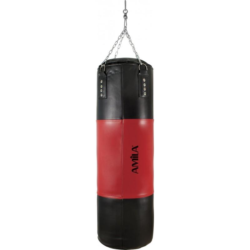 ΣΑΚΟΣ ΠΥΓΜΑΧΙΑΣ μποξ ΠΟΛΕΜΙΚΩΝ ΤΕΧΝΩΝ boxing punching bag 105x33cm AMILA PVC 43795