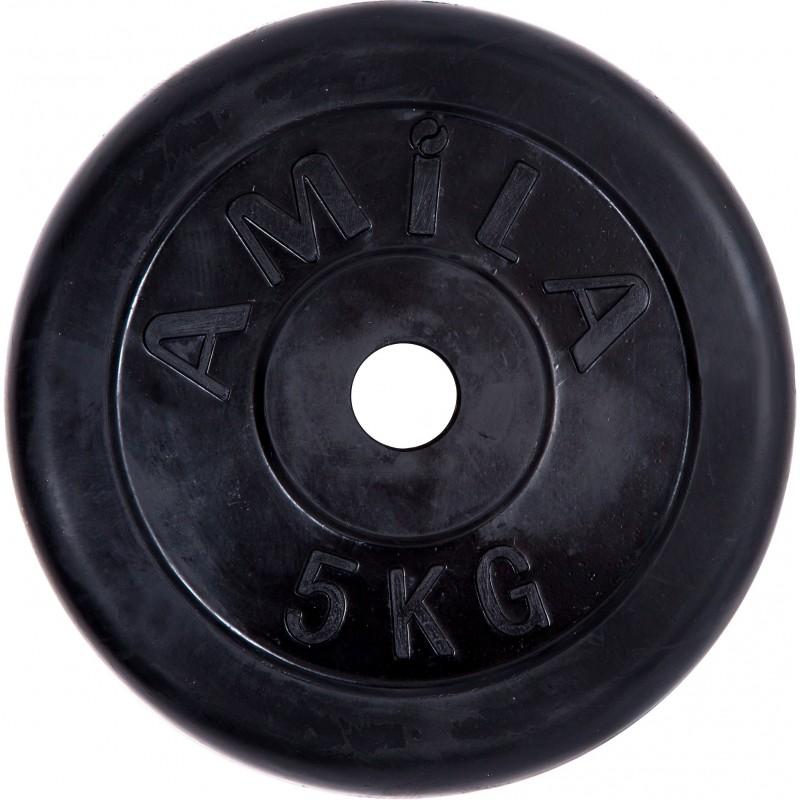 ΔΙΣΚΟΣ ΓΙΑ ΒΑΡΗ ΜΕ Επένδυση Λάστιχου ΓΙΑ ΜΠΑΡΕΣ 28mm 5kg AMILA 90253