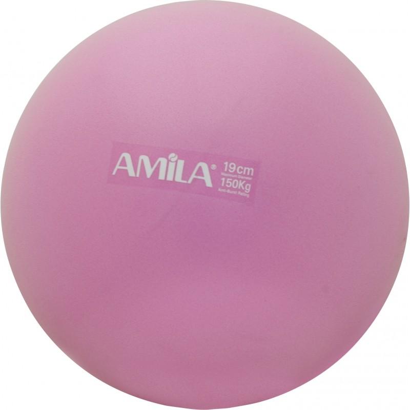 Μπάλα Pilates 19cm, Ροζ, bulk - 95806