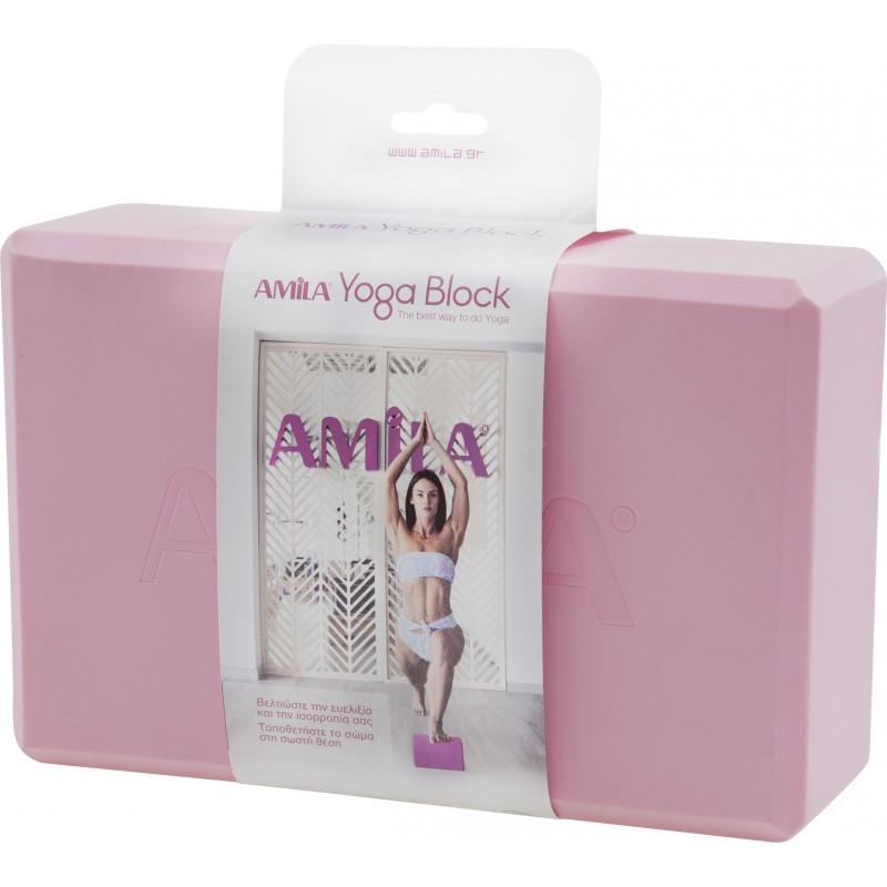 Τούβλο για Yoga, ροζ - 96841 ΓΙΟΓΚΑ ΤΟΥΒΛΑΚΙ YOGA BRICK