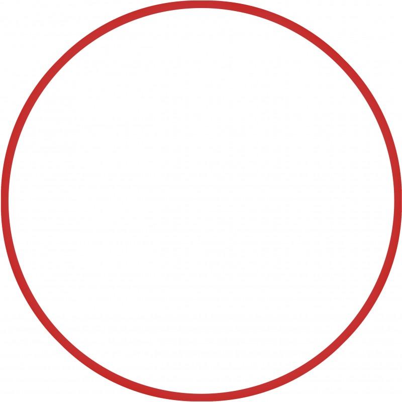 Χούλα-Χουπ 60cm - Φ19mm - 230gr, Κόκκινο - 98803