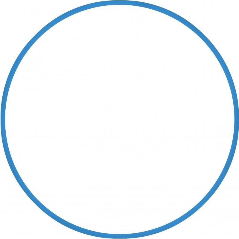 Χούλα-Χουπ 60cm - Φ19mm - 230gr, Μπλε - 98805