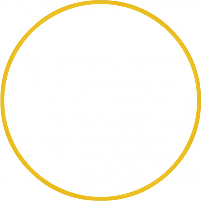 Χούλα-Χουπ 60cm - Φ19mm - 230gr, Κίτρινο - 98806