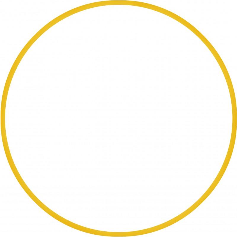 Χούλα-Χουπ 70cm - Φ19mm - 280gr, Κίτρινο - 98811