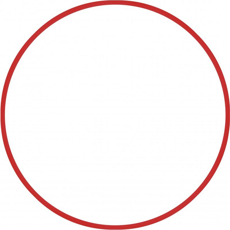 Χούλα Χουπ HQ 80cm - Φ19mm - 330gr, Κόκκινο - 98817
