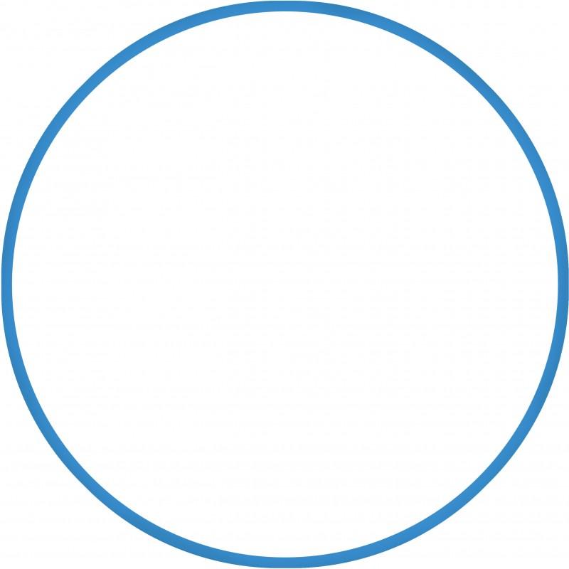 Χούλα Χουπ HQ 80cm - Φ19mm - 330gr, Μπλε - 98818