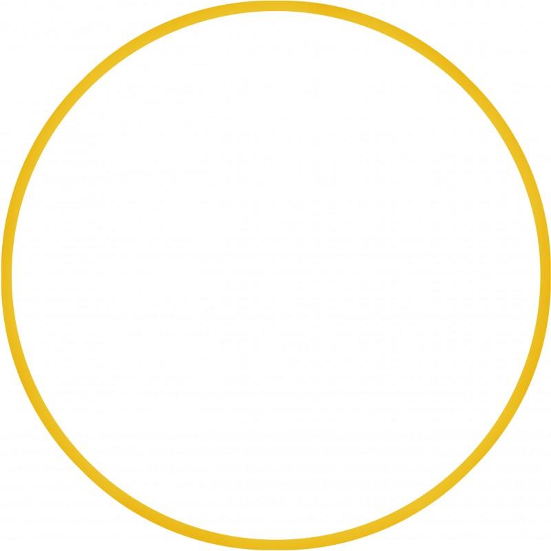 Χούλα Χουπ HQ 80cm - Φ19mm - 330gr, Κίτρινο - 98820
