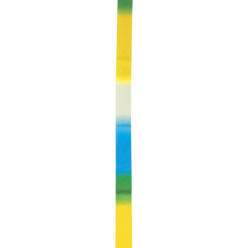 Κορδέλα Ρυθμικής Γυμναστικής 6m, Άσπρο-Κίτρινο-Μπλε - 98903