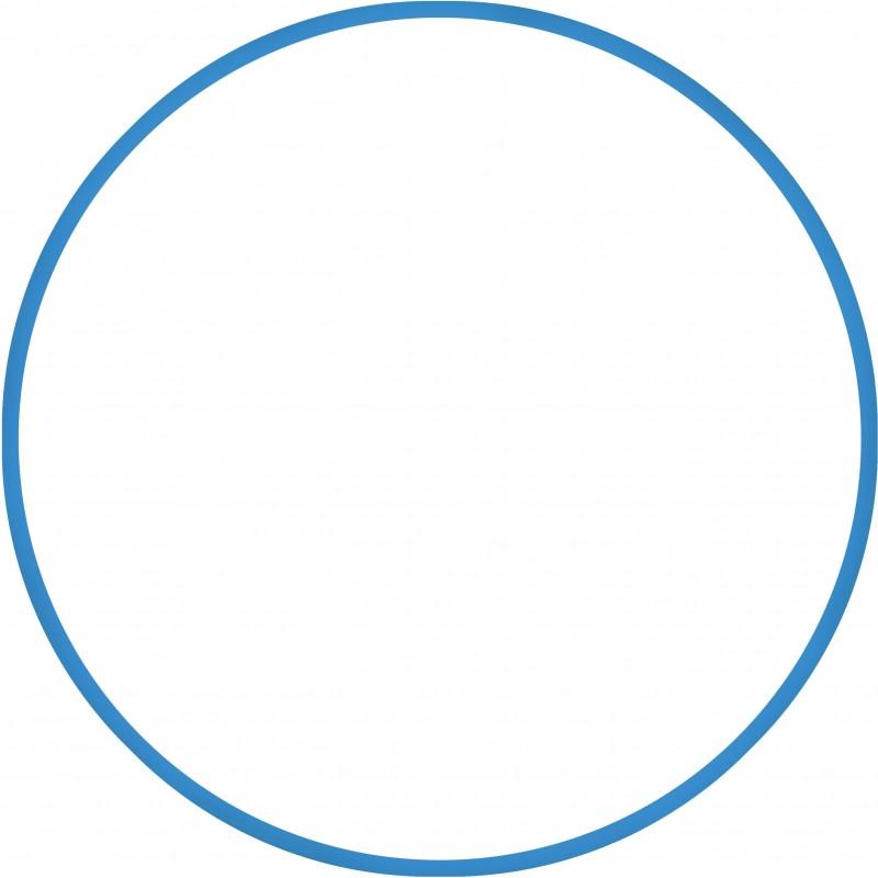 Χούλα Χουπ 76cm  Φ18mm 185gr Μπλε 48160
