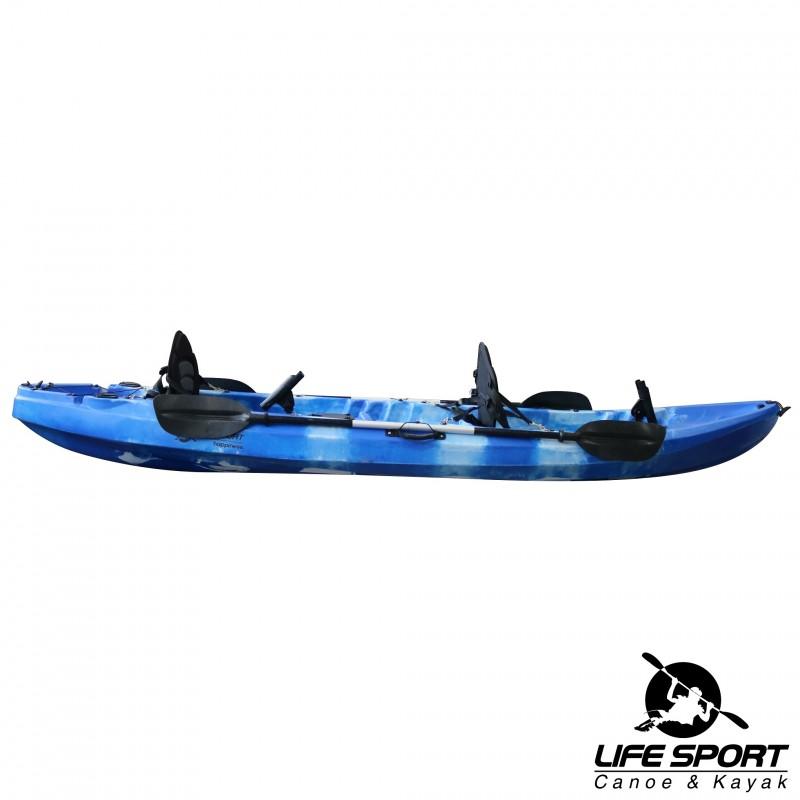 """ΚΑΓΙΑΚ Kayak Life Sport """"Happiness"""" (2 ενήλικοι + 1 παιδί) - VK-07"""