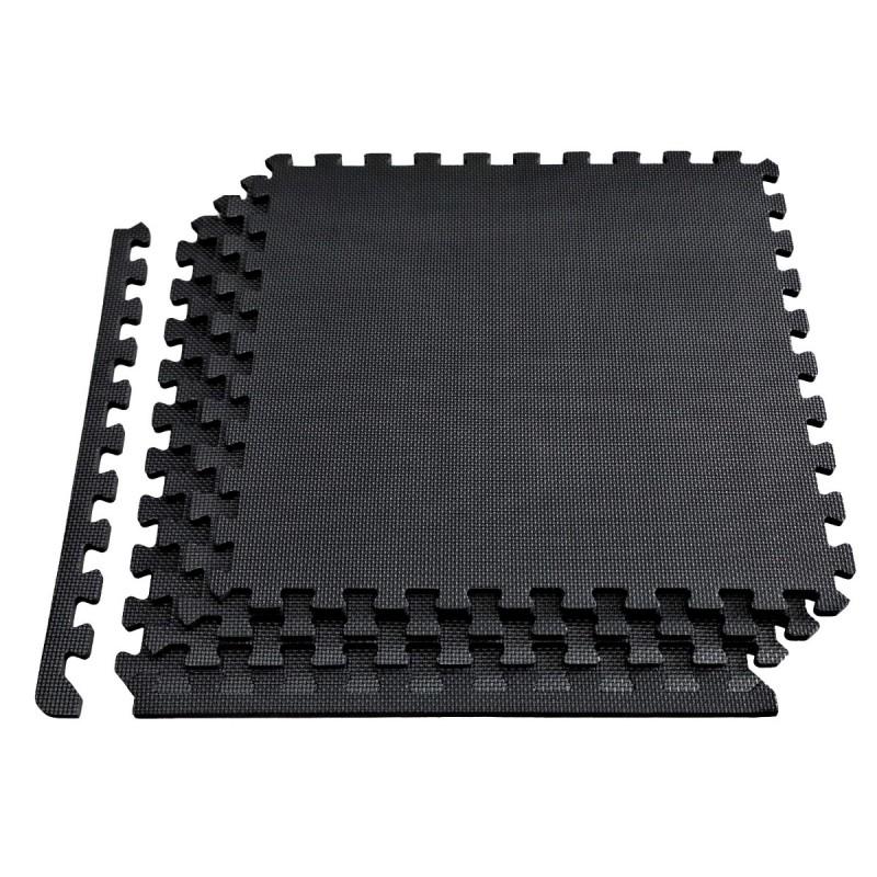 Δάπεδο προστασίας Puzzle EVA (Μαύρο) 1.2cm (Σετ 4τμχ) - Β-4300