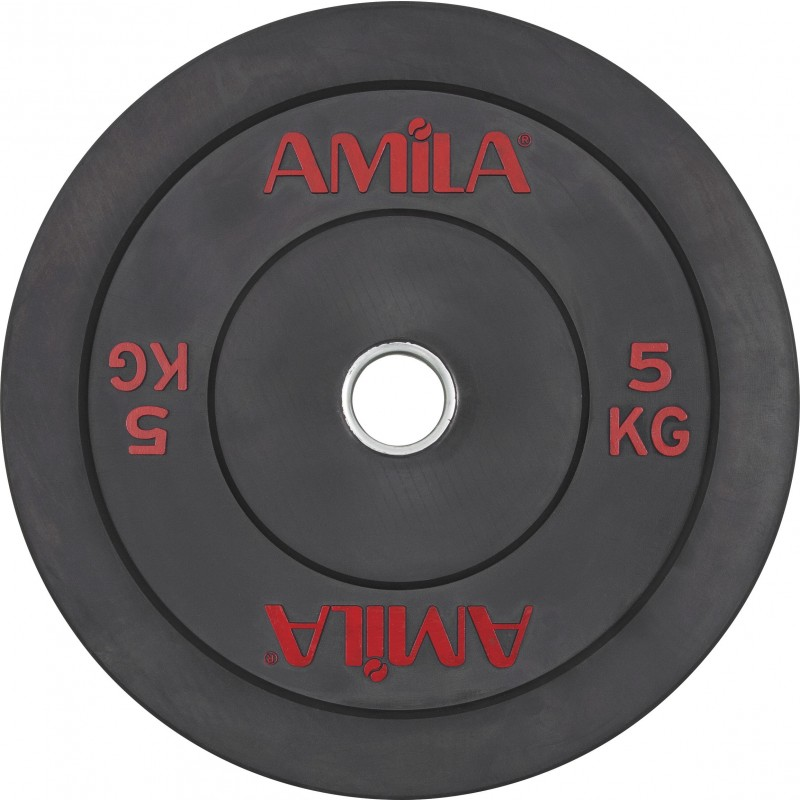 Δίσκος ΟΛΥΜΠΙΑΚΟΥ ΤΥΠΟΥ BUMPER CROSSFIT PLATE 50mm 5kg 84600 AMILA