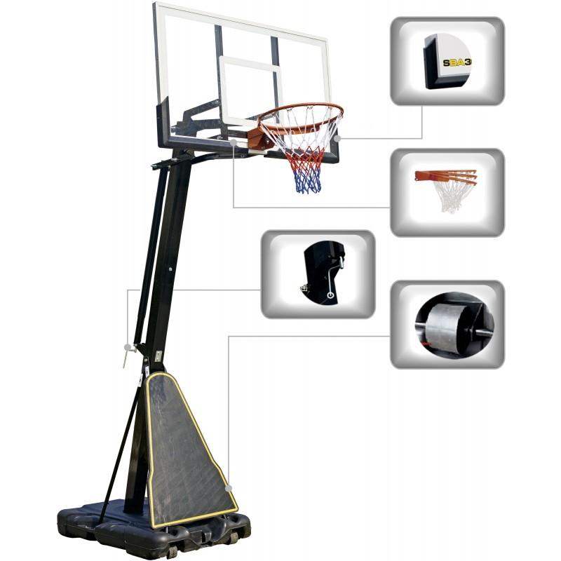 ΦΟΡΗΤΗ ΜΠΑΣΚΕΤΑ ΡΥΘΜΙΖΟΜΕΝΗ ΜΕ ΒΑΣΗ AMILA 49220 Deluxe Basketball System