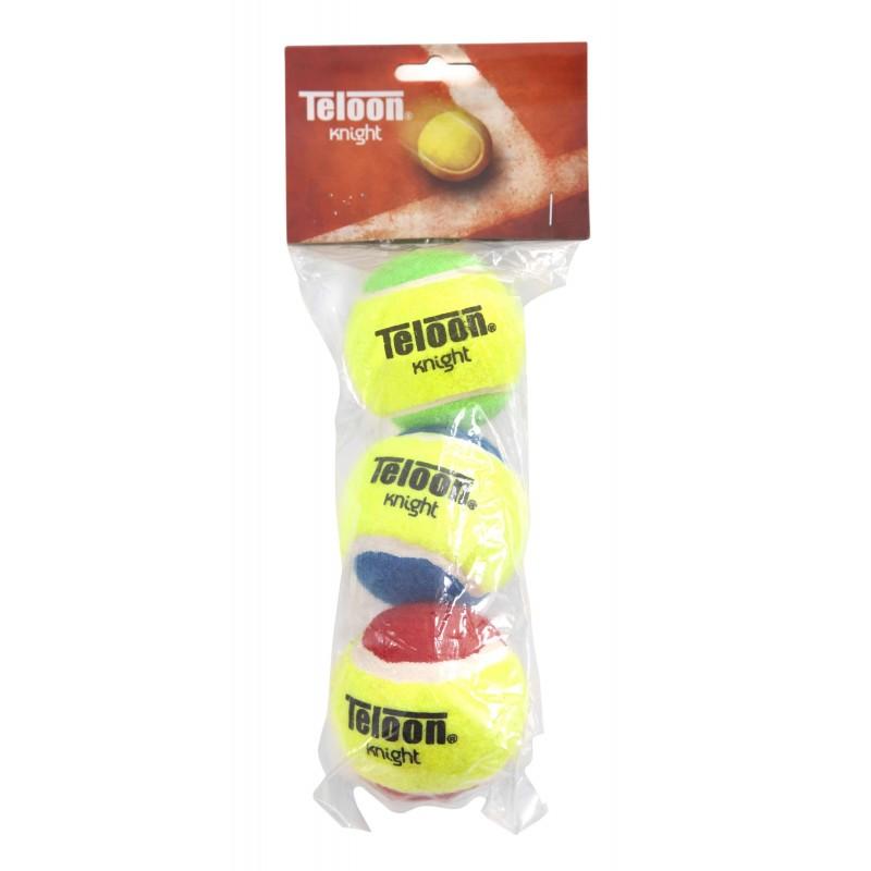 ΜΠΑΛΑΚΙΑ ΤΕΝΝΙΣ TENNIS BALLS Teloon Knight δίχρωμα AMILA 42213 (3 ΤΕΜΑΧΙΑ)