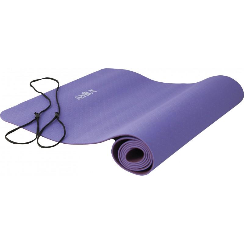 Στρώμα Yoga 4mm TPE Ροζ/Μωβ 81771