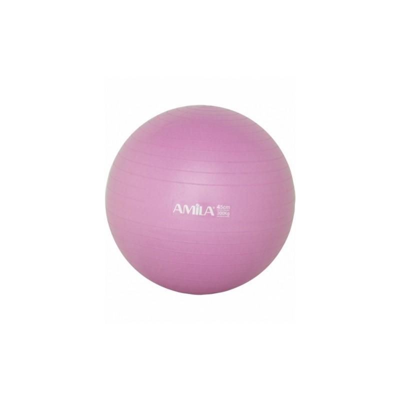 Μπάλα Γυμναστικής AMILA GYMBALL 45cm  Ροζ  Bulk 48086