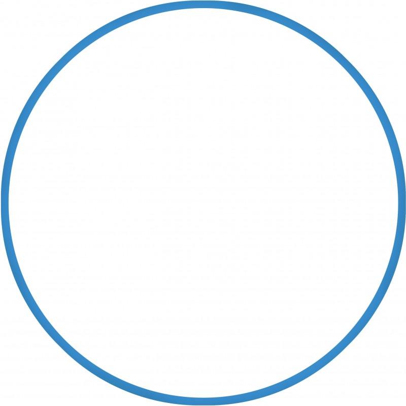ΣΤΕΦΑΝΙ ΡΥΘΜΙΚΗΣ ΓΥΜΝΑΣΤΙΚΗΣ Χούλα Χουπ 60cm Φ18mm 120gr Μπλε 48019 - HULA HOOP