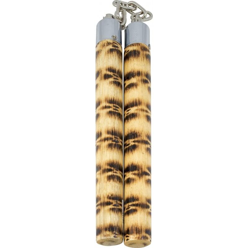 ΚΡΟΤΑΛΑ ΞΥΛΙΝΑ (ΑΠΟ ΞΥΛΟ) 30cm (15cm ΑΛΥΣΙΔΑ) ΝΟΥΤΣΑΚΟΥ NUNCHAKU WOODEN 36113