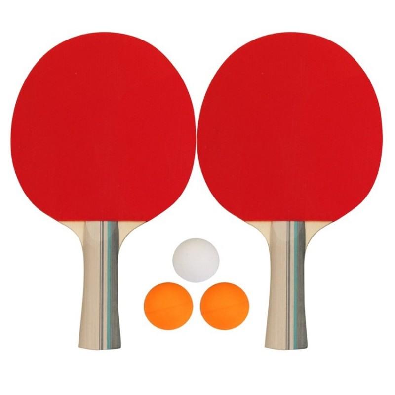Σετ 2 Ρακέτες Ping Pong & 3 Μπαλάκια - 61UG