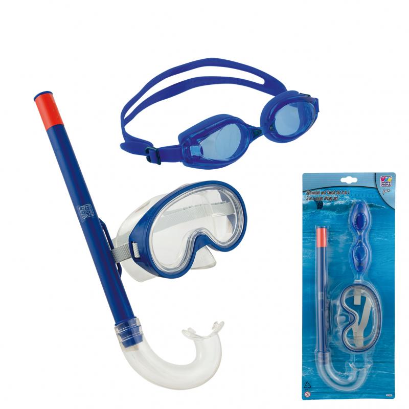 Σετ μάσκα με αναπνευστήρα και γυαλάκια