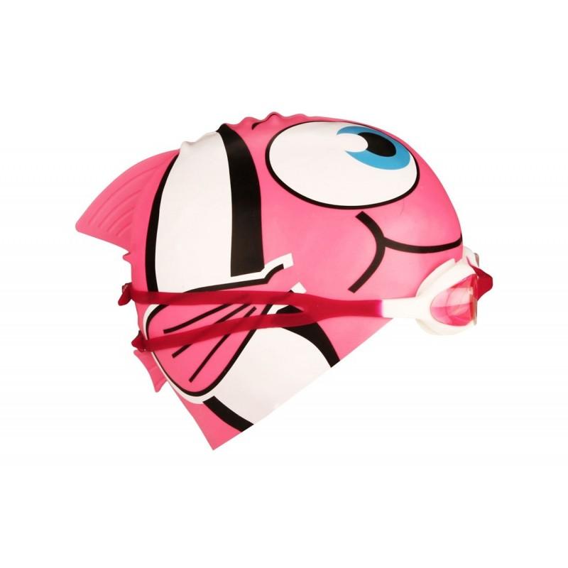 Σκουφάκι και Γυαλάκια κολύμβησης junior (ροζ) - 88DU-FWZ