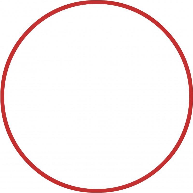 ΣΤΕΦΑΝΙ ΡΥΘΜΙΚΗΣ ΓΥΜΝΑΣΤΙΚΗΣ ΧΟΥΛΑ ΧΟΥΠ ΚΟΚΚΙΝΟ 60cm - Φ18mm - 120gr - HULA HOOP RED 48012 AMILA